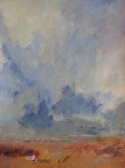 Dans le murmur des brises, 2014 Acrylique sur papier 65 X 50 cm