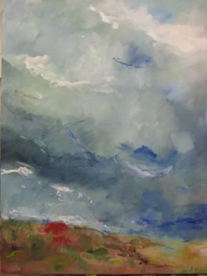Au delà des collines, 2013 Acrylique sur toile 81 X 65 cm