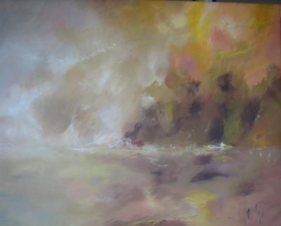 L'aube commençait à poindre, 2013 Acrylique sur toile 81 X 65