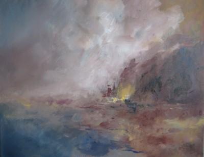 Le soir descend, 2013 Acrylique sur toile 81 X 65