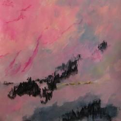 Un ciel explosé, 2014 Acrylique sur papier 50 X 50 cm