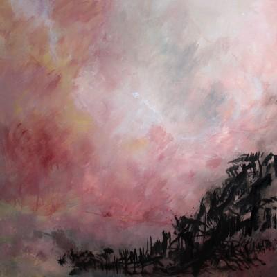 Le ciel était sublime, 2014 Acrylique et encre de Chine sur toile, 80 X 80 cm