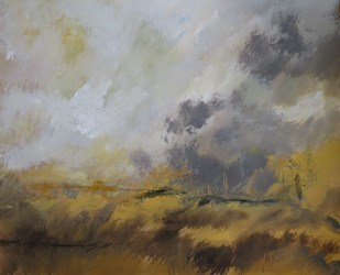 Les nuages se sont dissipés, 2015 Acrylique sur papier 65 x 50 cm