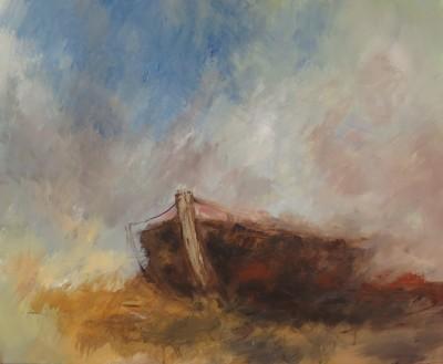 Barque II, 2015 Acrylique sur toile, 81 x 65 cm