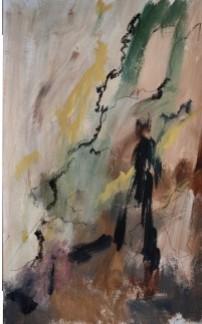 Falaises, 2015 Acrylique sur papier 65 X 40 cm
