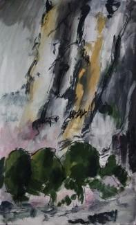 Falaises, 2015 Acrylique sur papier 60 X 40 cm