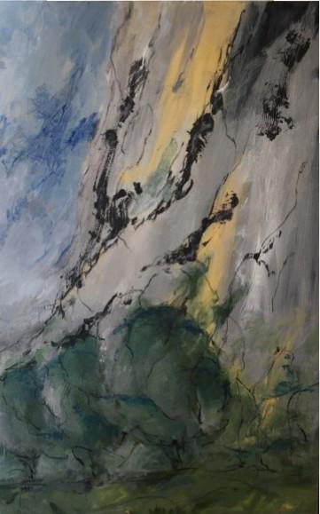 Falaises, 2015 Acrylique sur toile, 116 X 73 cm