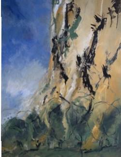 Falaises, 2015 Acrylique sur toile, 65 X 50 cm