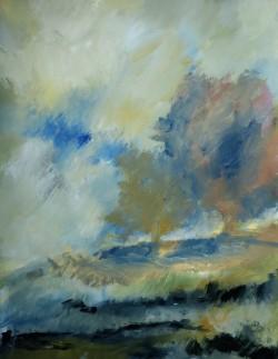 Un vent humide, 2016 Acrylique sur papier 65 X 50 cm