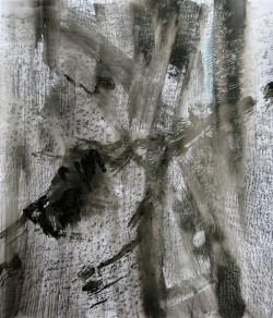 Pierre à pierre 4/9, 2016 Encre de Chine et crayon graphite sur papier 65 X 50 cm