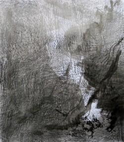 Pierre à pierre 6/9, 2016 Encre de Chine et crayon graphite sur papier 65 X 50 cm