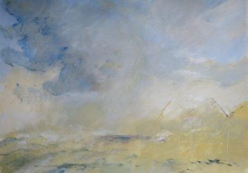 Ouistréham, 2016 Acrylique sur papier, 50 X 65 cm
