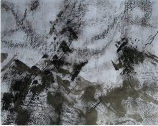 Ecriture de pierre II, 2016 Encre de Chine et crayon graphite sur papier 65 X 50 cm